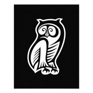 Owl Symbol White Invitations