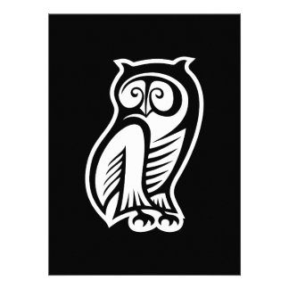 Owl Symbol White Custom Announcements