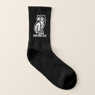 Owl Symbol White Socks