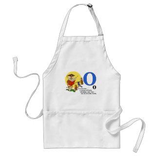 Owl teacher of birds standard apron