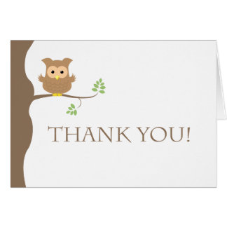 Owl Thank You Greeting Cards