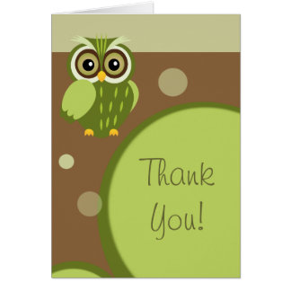 Owl~ Thank You Greeting Card