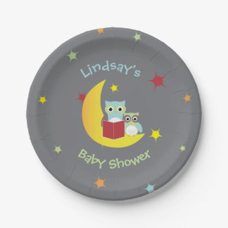 Owl Themed Party Plates-Baby Shower Paper Plate