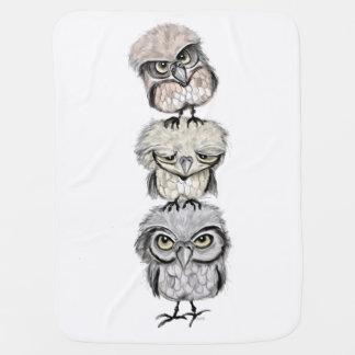 owl totem baby blanket