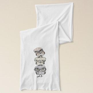 owl totem scarf