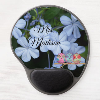 Owl Tree Floral Blossoms Vines Destiny Destiny's Gel Mouse Pad