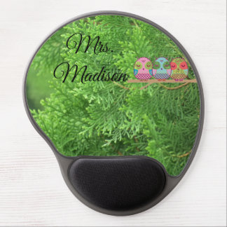 Owl Tree Green Blossoms Vines Destiny Destiny's Gel Mouse Pad