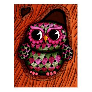 Owl Tree Postcard