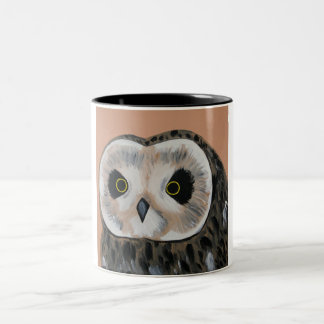 Owl Two-Tone Coffee Mug