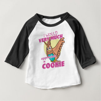 Owl Unicorn I Would Very Much Appreciate a Cookie Baby T-Shirt