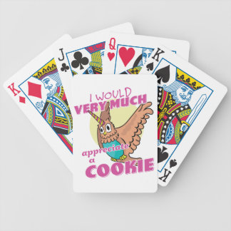 Owl Unicorn I Would Very Much Appreciate a Cookie Bicycle Playing Cards