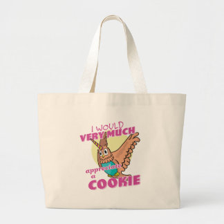 Owl Unicorn I Would Very Much Appreciate a Cookie Large Tote Bag