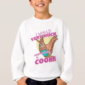 Owl Unicorn I Would Very Much Appreciate a Cookie Sweatshirt