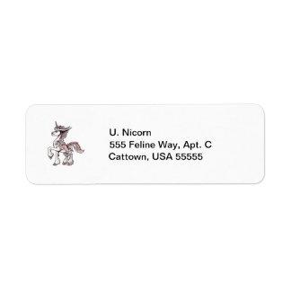 Owl Unicorn Return Address Labels