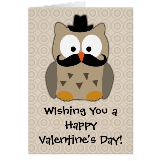 Owl Valentine Note Card