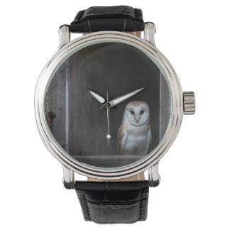 Owl Vintage Leather Strap Watch