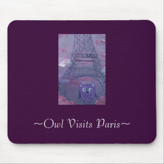~Owl Visits Paris~ Mouse Pad