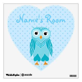 Owl Wall Decals: Baby Blue Owl Wall Sticker