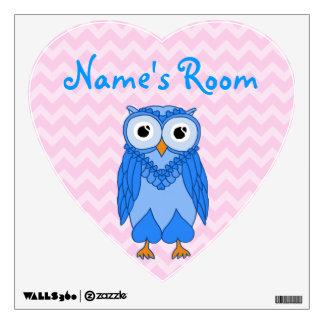 Owl Wall Decals: Blue Owl Wall Sticker