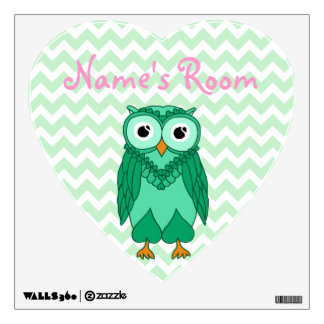 Owl Wall Decals: Green Owl Wall Decal