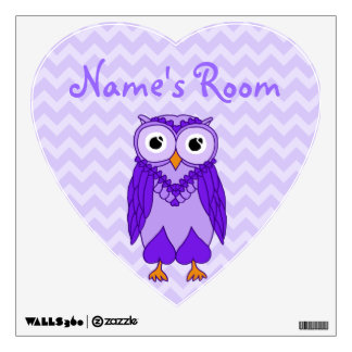 Owl Wall Decals: Purple Owl Wall Decal