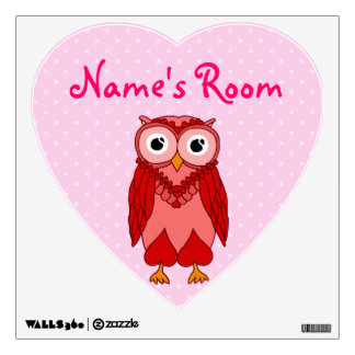 Owl Wall Decals: Red Owl Wall Decal