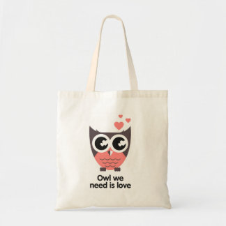 Owl we need are love wink tote bags