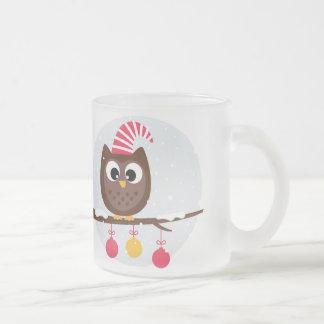 Owl Wearing Birthday Cap Glass Mug