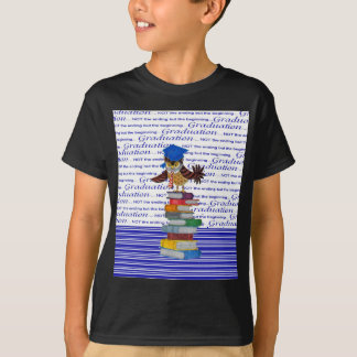 Owl Wearing Tie and Grad Cap on Top of Books, Grad