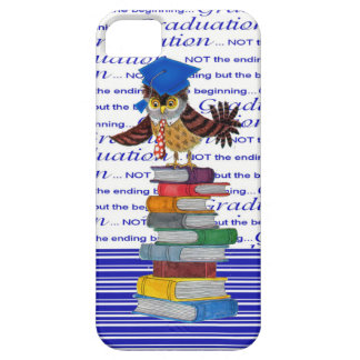 Owl Wearing Tie and Grad Cap on Top of Books, Grad Case For The iPhone 5