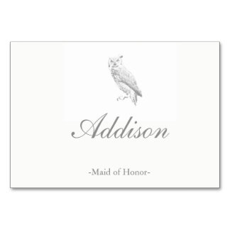 Owl Wedding Place Cards