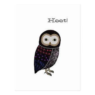 Owl Wildlife illustration Cute Screech Owl Hoot Postcard
