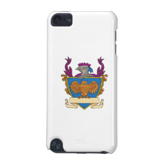 Owl Wings Spread Knight Helmet Drawing iPod Touch (5th Generation) Covers