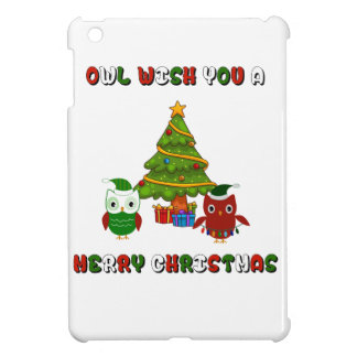 Owl Wish You A Merry Christmas Holiday Gifts iPad Mini Cover