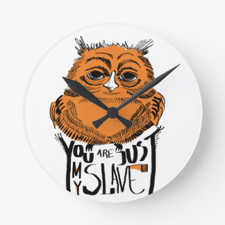 Owl with a character clocks