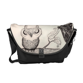 Owl with Attidude -  Rickshaw Messenger Bag