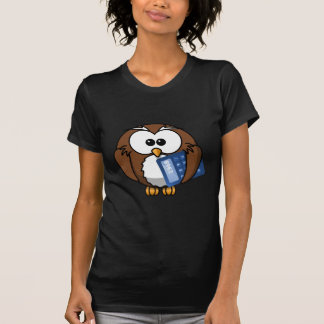 Owl with Calculator, math, student, accounting, T-Shirt
