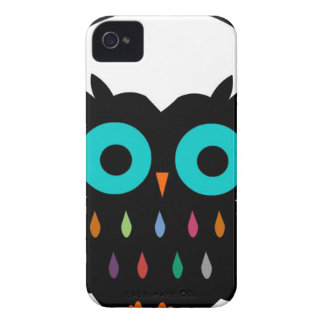 Owl with Earphones iPhone 4 Case-Mate Cases