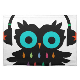 Owl with Earphones Placemat
