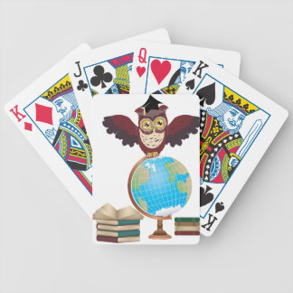 Owl with Globe 2 Bicycle Playing Cards