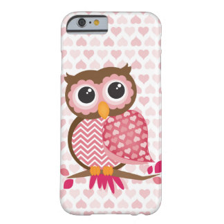 Owl With Hearts Barely There iPhone 6 Case