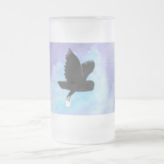 Owl With Mail Frosted Mug