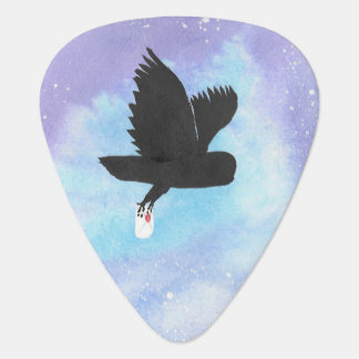 Owl With Mail Guitar Pick