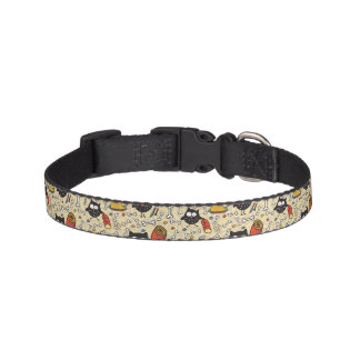 Owl with Meat Pattern Pet Collar