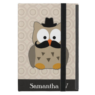 Owl with Mustache and Hat iPad Mini Covers