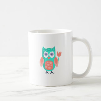 Owl With Party Attributes Girly Stylized Funky Coffee Mug