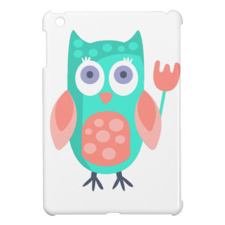 Owl With Party Attributes Girly Stylized Funky iPad Mini Cases