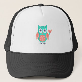 Owl With Party Attributes Girly Stylized Funky Trucker Hat