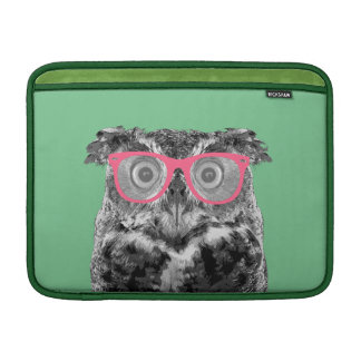 Owl with Pink Glasses Cute Funny Phone Case MacBook Air Sleeves