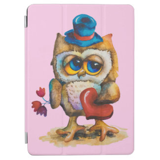 Owl with the heart Apple iPad Pro Pink iPad Pro Cover